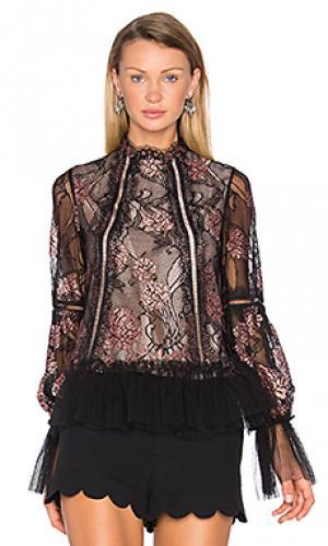 Блузка lia Alexis. Цвет: черный