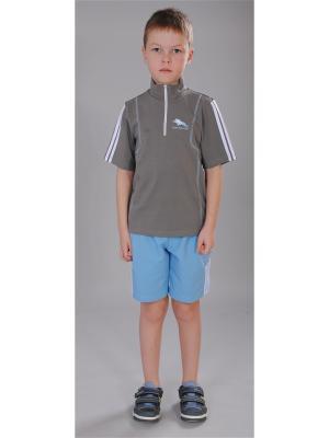 Футболка, шорты Милашка Сьюзи. Цвет: серый