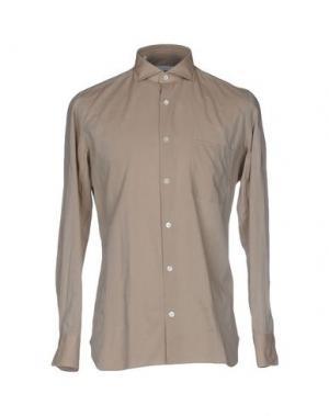 Pубашка GIAMPAOLO. Цвет: бежевый