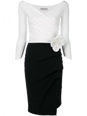 Платье с V-образным вырезом Chiara Boni La Petite Robe. Цвет: чёрный