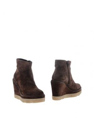 Полусапоги и высокие ботинки JANET SPORT. Цвет: темно-коричневый