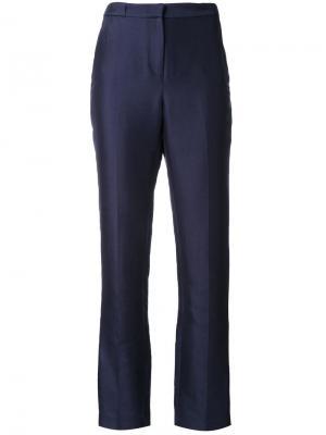 Классические брюки кроя слим Bianca Spender. Цвет: синий