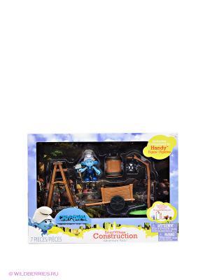Игровой набор с фигурками Мир Смурфиков Jakks. Цвет: коричневый, голубой