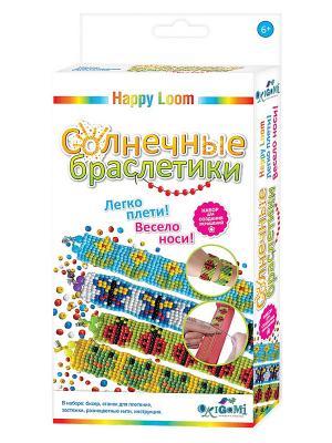 Happy Loom. Набор для создания браслетов Солнечные браслетики Loom. Цвет: голубой, желтый, зеленый