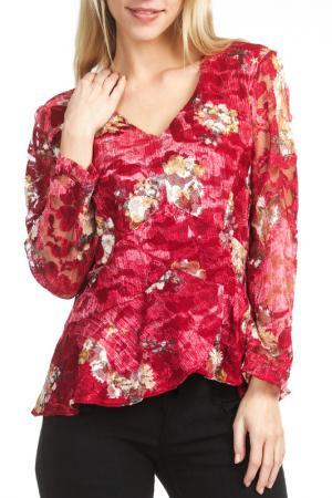 Блуза Georgede. Цвет: красный
