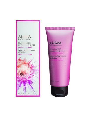 Deadsea Water Минеральный крем для рук кактус и розовый перец 100 мл AHAVA. Цвет: прозрачный