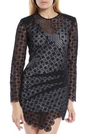 Платье-мини SELF-PORTRAIT. Цвет: черный