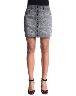 Джинсовая юбка JUST CAVALLI. Цвет: серый