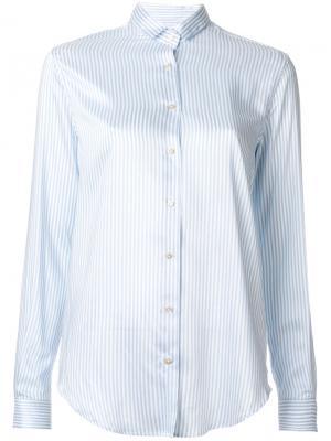 Рубашка в полоску Xacus. Цвет: синий