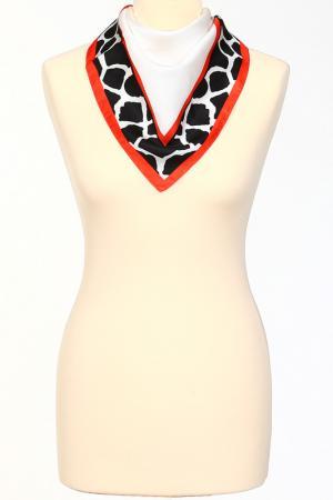 Платок Roberto Cavalli. Цвет: белый, черный, красный