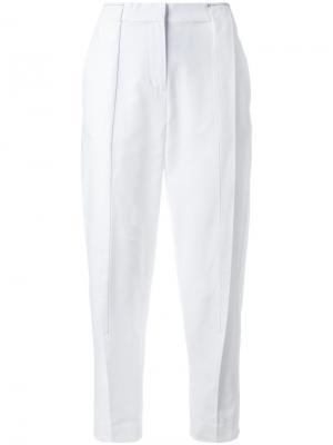 Укороченные брюки DKNY. Цвет: белый