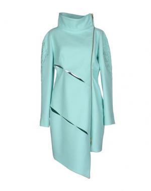 Пальто GAETANO NAVARRA. Цвет: светло-зеленый