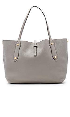 Маленькая сумка тоут isabella Annabel Ingall. Цвет: серый