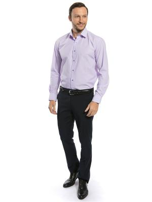 Рубашка GroStyle. Цвет: лиловый, белый