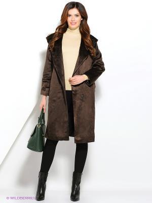 Пальто LaFabricante. Цвет: коричневый