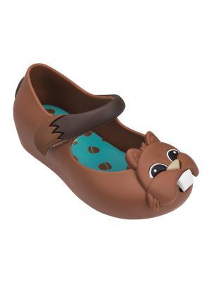 Туфли Melissa. Цвет: коричневый
