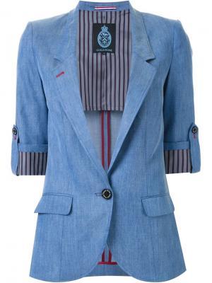 Хлопчатобумажный пиджак Guild Prime. Цвет: синий