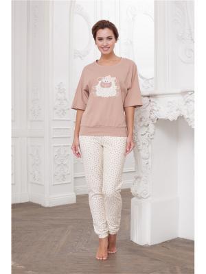 Комплект одежды CLEO. Цвет: коричневый, молочный