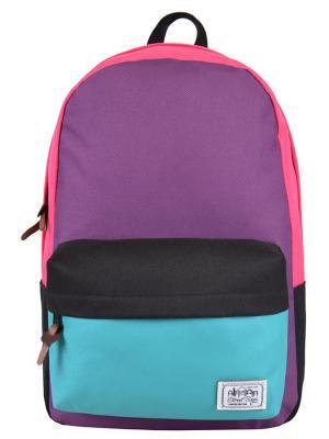 Рюкзак Street Bags. Цвет: бирюзовый, розовый, фиолетовый