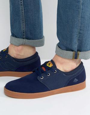 Emerica Темно-синие кроссовки Figueroa. Цвет: синий