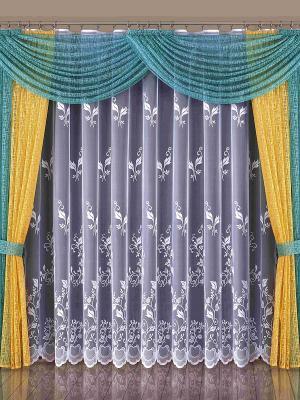 Комплект штор Wisan. Цвет: бирюзовый