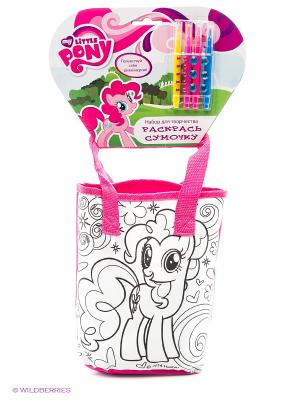 Набор для творчества  my little pony. сумочка росписи на хедере Multiart. Цвет: розовый