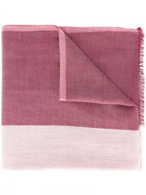 Платок с необработанными краями Bally. Цвет: розовый и фиолетовый
