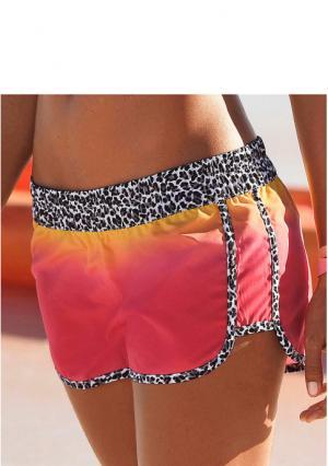 Пляжные шорты Kangaroos. Цвет: бирюзовый/зеленый, оранжевый/желтый
