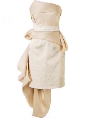 Платье без бретелей Rubin Singer. Цвет: телесный