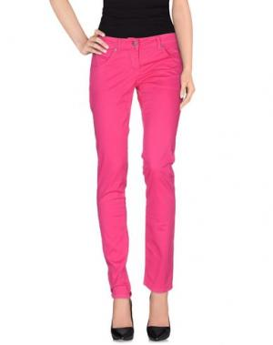 Повседневные брюки EXTE. Цвет: фуксия