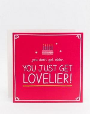 Happy Jackson Открытка на День рождения Lovelier. Цвет: мульти