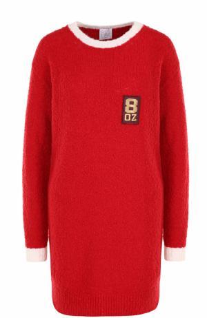 Вязаное мини-платье прямого кроя Stella Jean. Цвет: красный