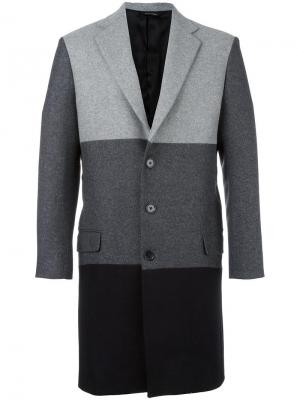 Однобортное пальто Lc23. Цвет: серый