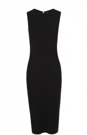 Облегающее платье без рукавов с декоративными разрезами T by Alexander Wang. Цвет: черный