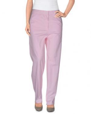Повседневные брюки ROBERTA GUERCINI. Цвет: розовый