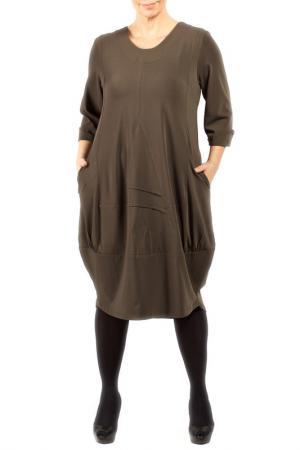 DRESS Zedd Plus. Цвет: khaki