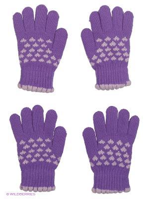 Перчатки, 2 пары FOMAS. Цвет: фиолетовый, сиреневый