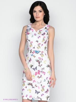 Платье Remix. Цвет: белый, синий, розовый, желтый