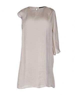 Короткое платье MESSAGERIE. Цвет: бежевый