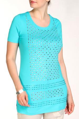 Блуза SARAH KERN. Цвет: бирюзовый