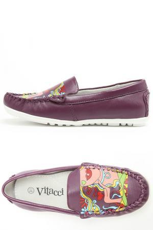 Туфли Vitacci. Цвет: фиолетовый
