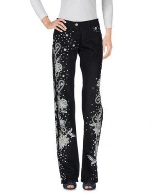 Джинсовые брюки JULIEN MACDONALD. Цвет: синий