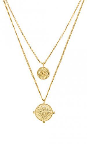 Ожерелье Luv AJ. Цвет: металлический золотой