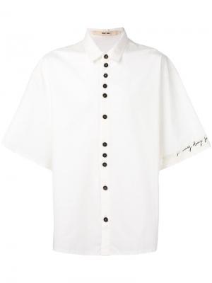 Объемная рубашка с короткими рукавами Damir Doma. Цвет: телесный