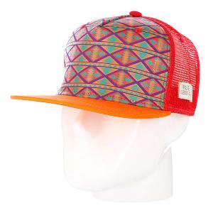 Бейсболка True Spin Inka Orange TrueSpin. Цвет: красный,оранжевый