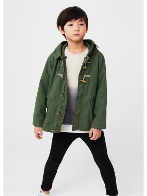 Куртка - SHEEP Mango kids. Цвет: зеленый
