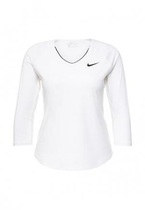 Лонгслив спортивный Nike. Цвет: белый