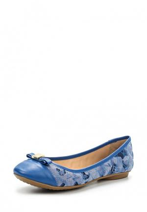 Балетки Crislli. Цвет: голубой