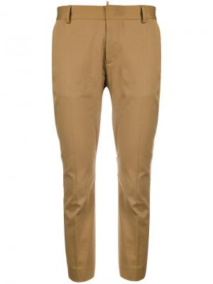 Cropped tailored trousers Dsquared2. Цвет: коричневый