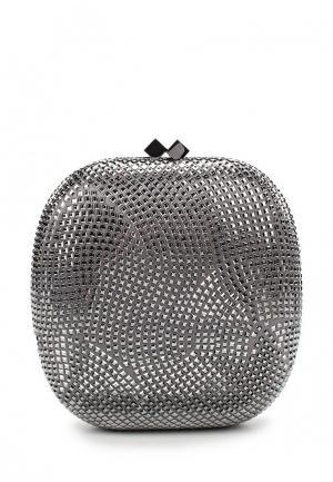 Клатч Olga Berg. Цвет: серебряный